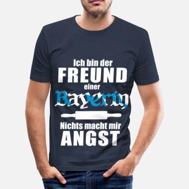 Brödkavel En bayers vän - Slim Fit T-shirt herr