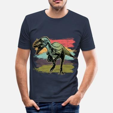 Allosaurus dinosaur - Men's Slim Fit T-Shirt