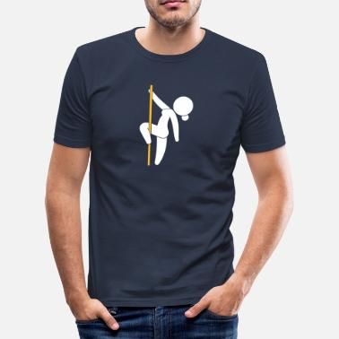 Erotic Pictogram A Stripper Dancing On A Pole - Men's Slim Fit T-Shirt