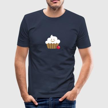 happy cupcake / Fröhlicher Muffin (3c) - Men's Slim Fit T-Shirt