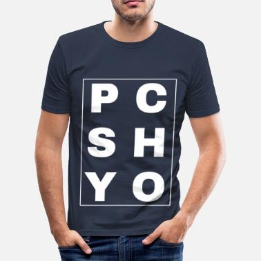 Rock N Roll Psychobilly Psycho Lettering - slim fit T-shirt