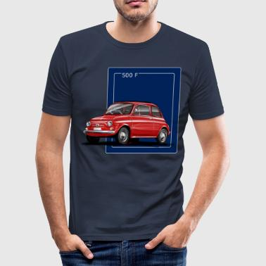 Fiat 500 red-blue Shirt.png - Slim Fit T-shirt herr