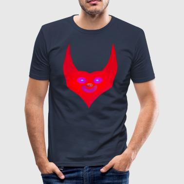 heart horns devil satan abstract - Männer Slim Fit T-Shirt