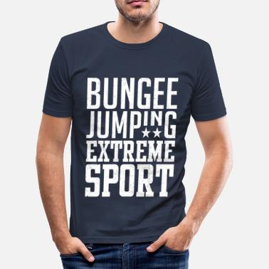 Hopzone Bungee Jumping - Herre Slim Fit T-Shirt