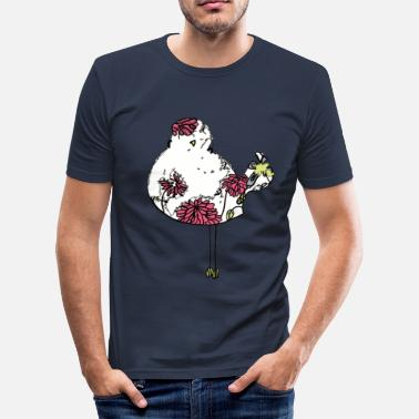 Woodstock Fargerik fugl Woodstock - Slim Fit T-skjorte for menn