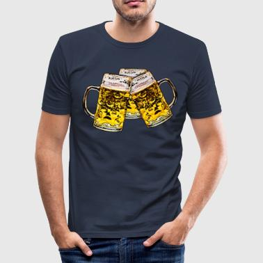 Beer with Friends - Men's Slim Fit T-Shirt