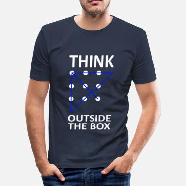 Think Outside The Box THINK OUTSIDE THE BOX - Men's Slim Fit T-Shirt