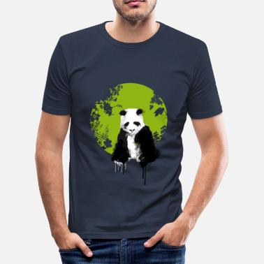 Zen panda jungle environment dab asia panda bear yin yang - Men's Slim Fit T-Shirt