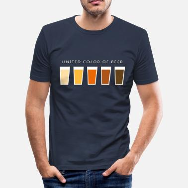 Stag Do United Color OF BEER (dd) - Men's Slim Fit T-Shirt