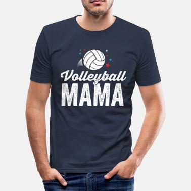 Coach Volleybal Mama T-shirt voor Dames Coach Team - Mannen slim fit T-shirt
