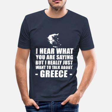Greece Funny Greece Vacation Gift Idea - Men's Slim Fit T-Shirt