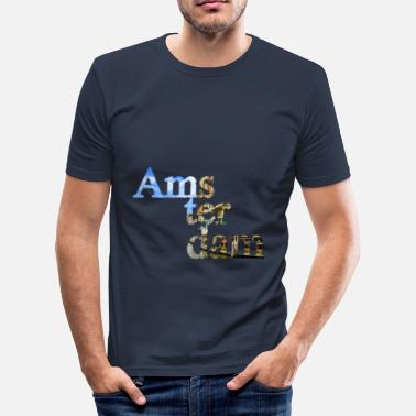 Bootboy Amsterdamse letters - slim fit T-shirt