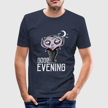 Good Evening Halloween - Good Evening Dracula - Men's Slim Fit T-Shirt