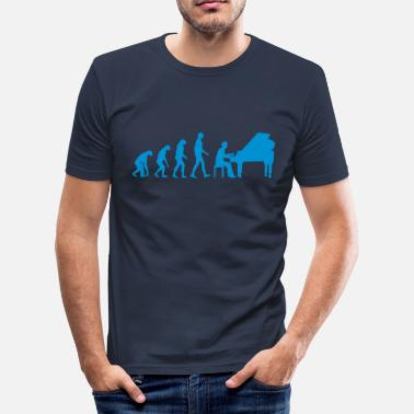 Bach piano evolution - slim fit T-shirt