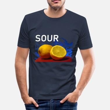 Sour Fruit sour lemons Fresh sour - Men's Slim Fit T-Shirt