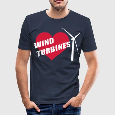 I love wind turbines! - Men's Slim Fit T-Shirt