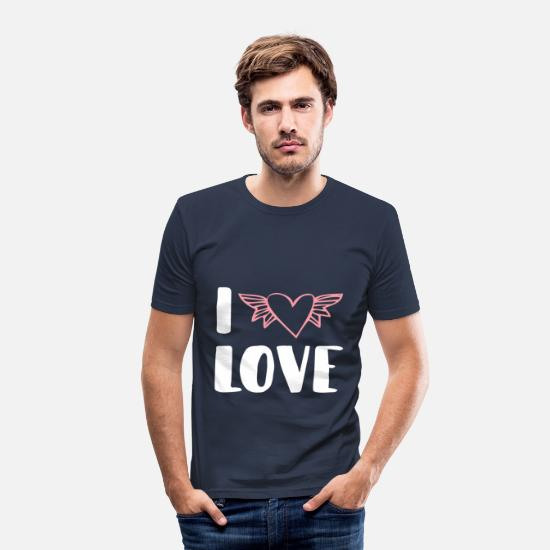 Love T-Shirts - I love - Men's Slim Fit T-Shirt navy