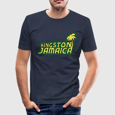kingston jamaica  - Camiseta ajustada hombre
