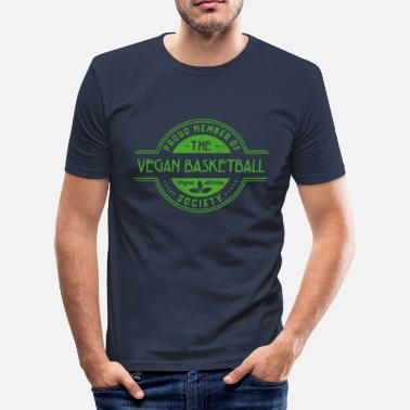 Soppen Veganistische Basketbal Atleet Society Club Member Gift - slim fit T-shirt