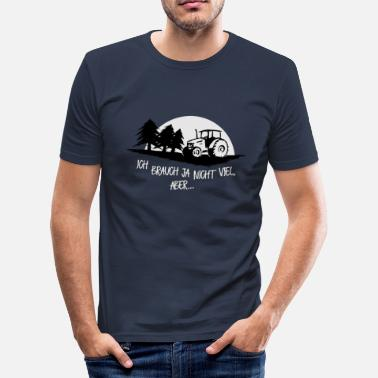 Forestry without tractor runs nix life farmer - Men's Slim Fit T-Shirt