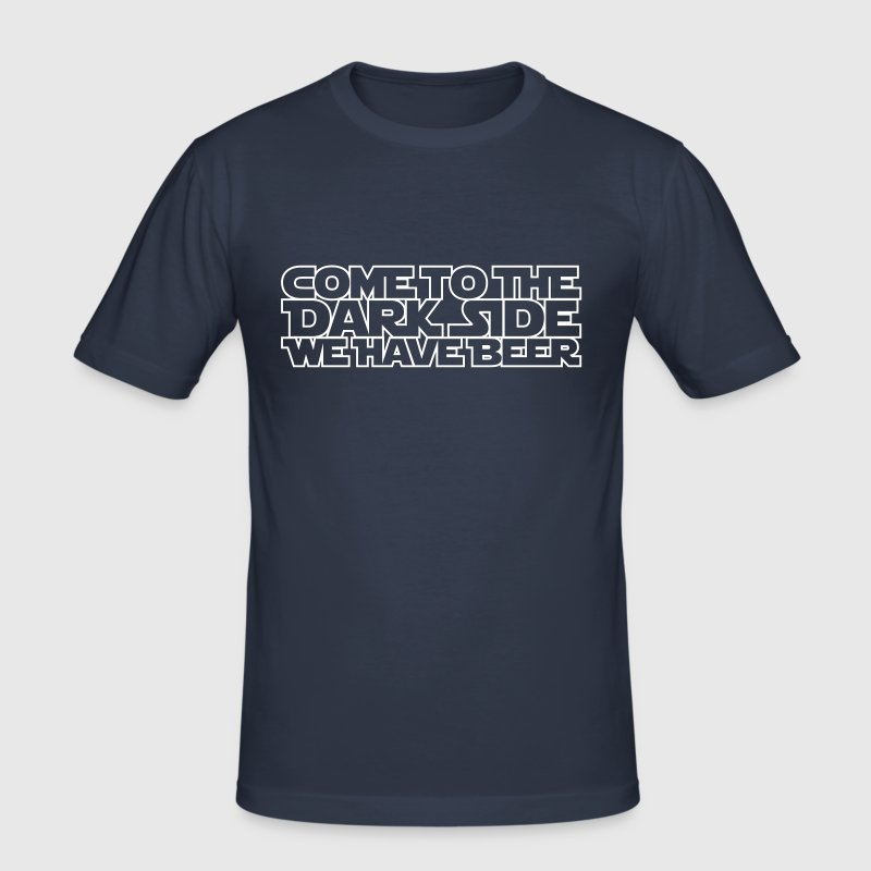 Come to the dark side we have beer 1.1c Outline - Camiseta ajustada hombre