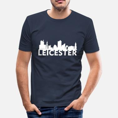 Leicestershire Leicester England Capital Skyline UK - Men's Slim Fit T-Shirt