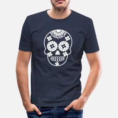 Skull Skull Skull Sugar Skull Mexico Gave - Slim fit T-shirt mænd