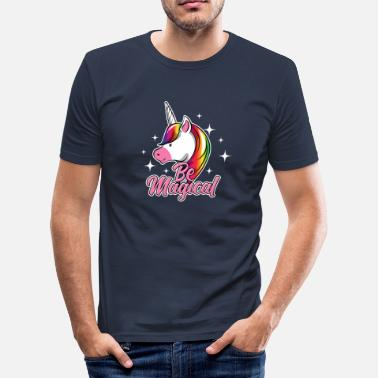 Trylle Frem unicorn - Slim Fit T-skjorte for menn