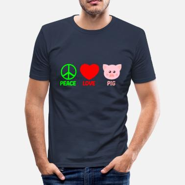 Agra Gris - Fred Kærlighed Pigs Gave - Herre Slim Fit T-Shirt