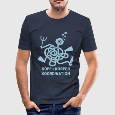 Koordination - Taucher - Knoten - Männer Slim Fit T-Shirt