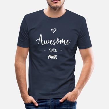 Awesome Since Awesome since 1958 - Herre Slim Fit T-Shirt