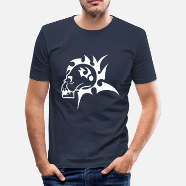 Killer Pictogram Mohawk Skull - Men's Slim Fit T-Shirt