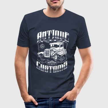 Hot Rod - Antique Customs (white) T-Shirts - Slim Fit T-shirt herr