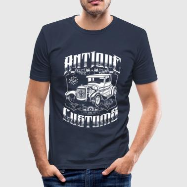 Psychobilly Hot Rod - Antique Customs (white) - Men's Slim Fit T-Shirt