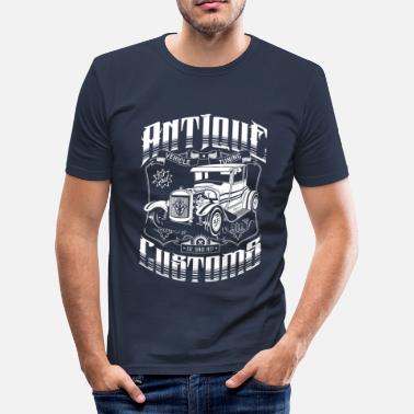 Muscle Cars Hot Rod - Antique Customs (white) T-Shirts - Camiseta ajustada hombre