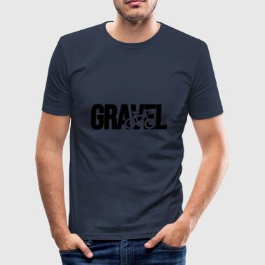 Gravel Gravel Silhouette Black - Men's Slim Fit T-Shirt