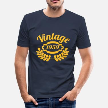 Sixten 1959 Vintage bursdag bursdag 3 - Slim Fit T-skjorte for menn