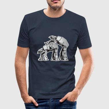 AT-AT Robot sex - Men's Slim Fit T-Shirt