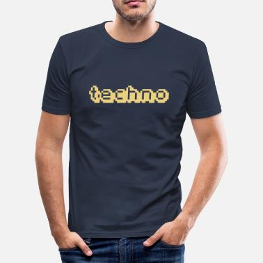 Lcd techno-LCD - Männer Slim Fit T-Shirt