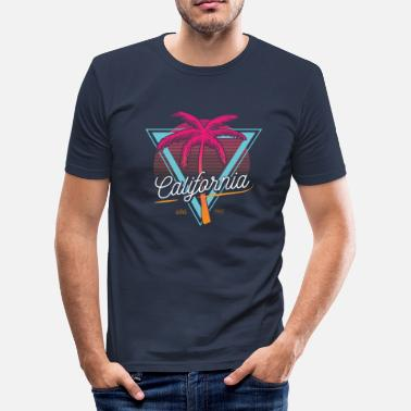 Californien Californien USA palme - Slim fit T-shirt mænd