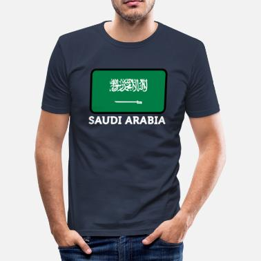 Riad Nationale Vlag Van Saoedi-Arabië - slim fit T-shirt