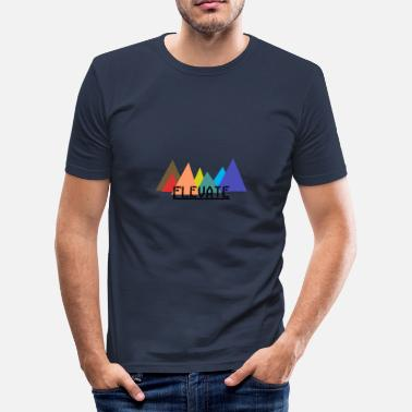 Elevator Elevated to the Mountains - Men's Slim Fit T-Shirt