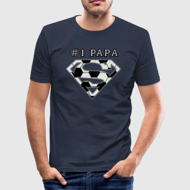 Superman Super Papa Football - T-shirt près du corps Homme