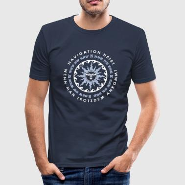 Definition Navigation white - Männer Slim Fit T-Shirt