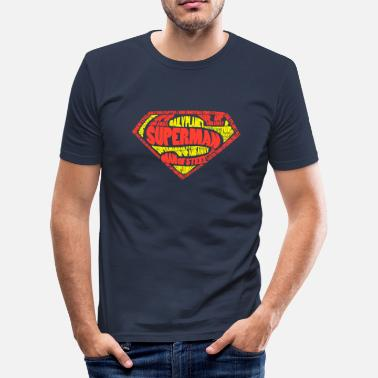 Superman Logo Tee shirt Homme - T-shirt moulant Homme