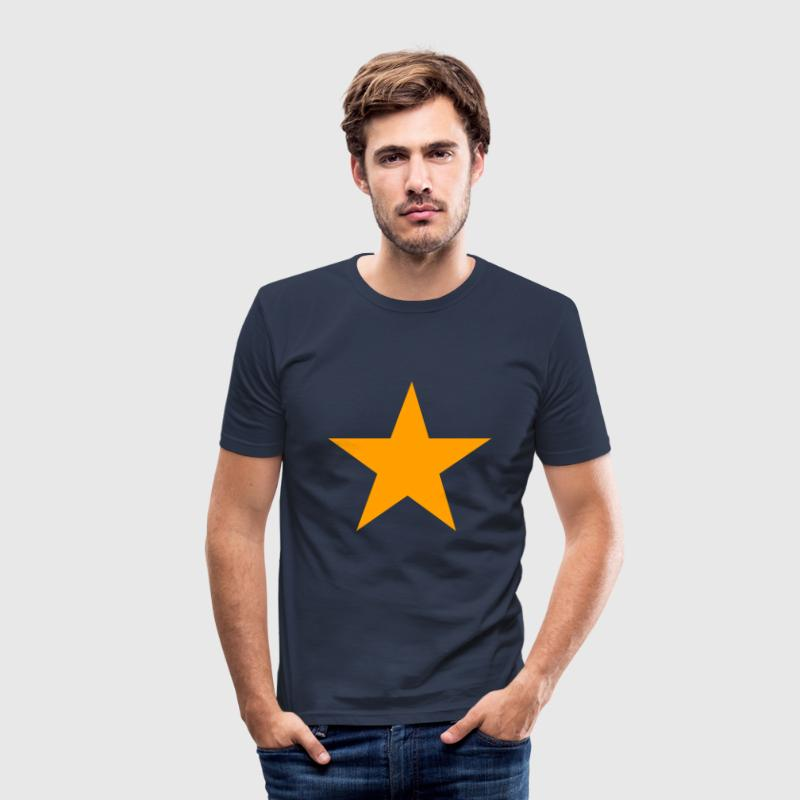 Yellow star - Herre Slim Fit T-Shirt