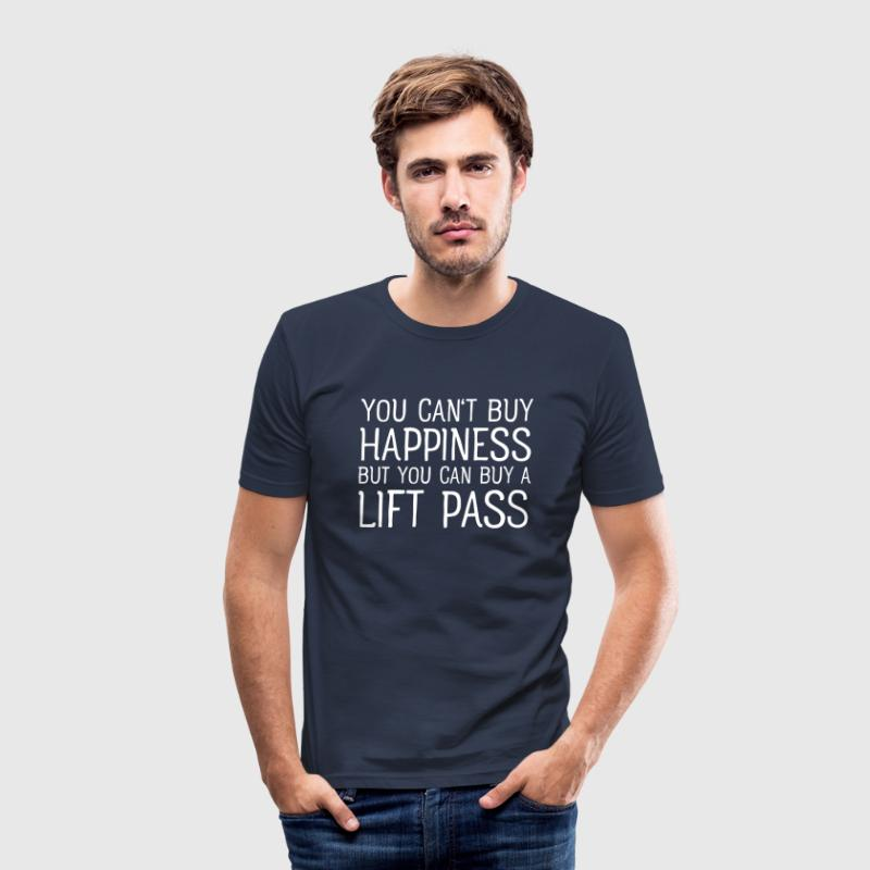 You Cant Buy Happiness But You Can Buy A Lift Pass - Männer Slim Fit T-Shirt