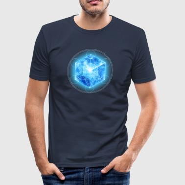 4d Metatrons Cube with TESSERACT, Hypercube 4D, digital, Symbol - Dimensional Shift,  - Herre Slim Fit T-Shirt