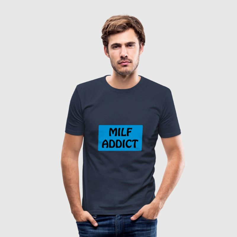 MILF Addict (vectoriel) - Men's Slim Fit T-Shirt