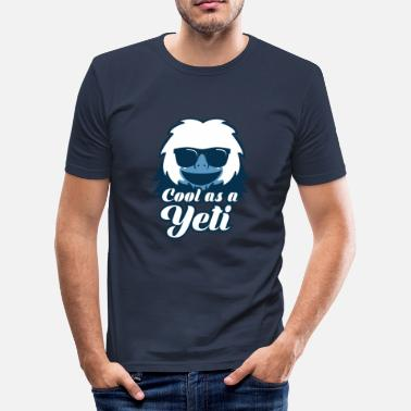 Yéti Bigfoot - T-shirt près du corps Homme
